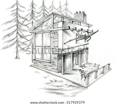 Hand Drawn Architectural Fantasy