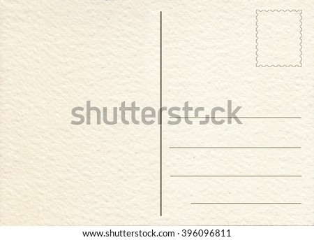 Hand drawn  back postcard - stock photo