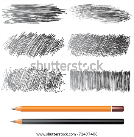 hand drawn banners - stock photo