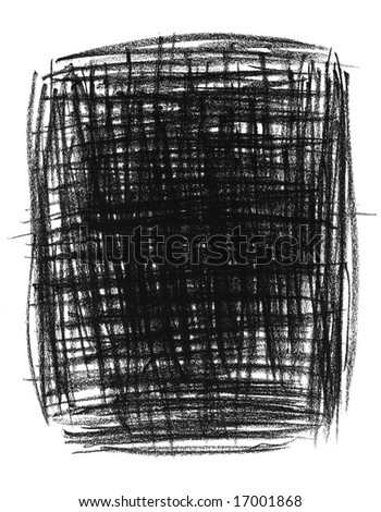 Hand-drawn black primitive background, isolated on white.