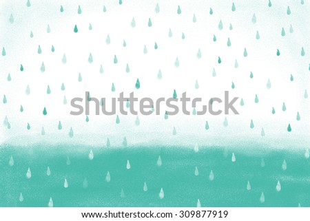 Heavy Rain Dark Sky Background Wallpaper Stock Illustration