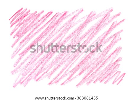 Hand-drawn crayon scribble background in red colors. Red wax pencil. Frame design element. Gradient. Brush. Pink background. Frame with strokes and stains. Messy line touches. Abstract pink texture. - stock photo