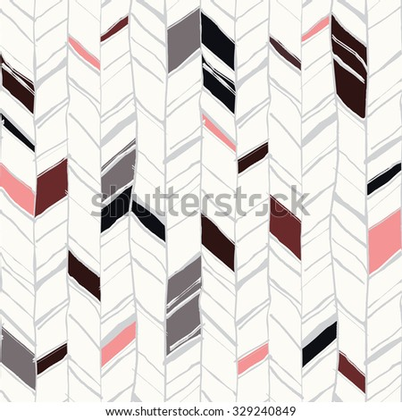 Hand drawn creative herringbone seamless pattern, pretty repeating textured background available in high resolution for print or web projects
