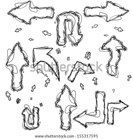 Hand-drawn design elements collection. See also vector version - stock photo