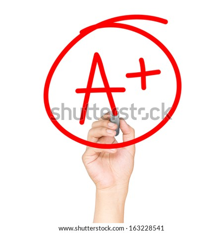Hand drawn Education rating - stock photo