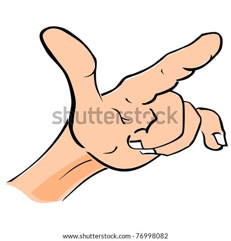 Hand drawn illustration of a forefinger