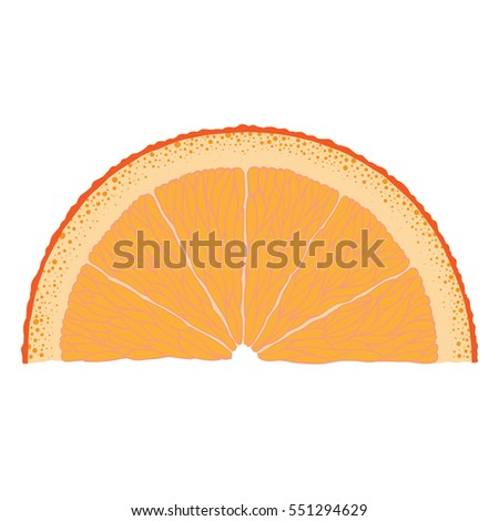 Hand-drawn image of orange slice.