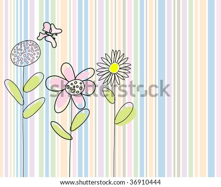 Hand drawn infant card. In my portfolio also available vector illustration. - stock photo