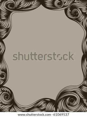 Hand Drawn ornate page border - stock photo