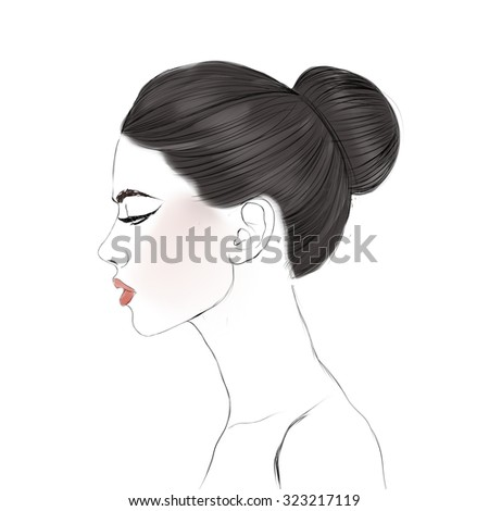 quot hair bun quot stock images royalty shutterstock