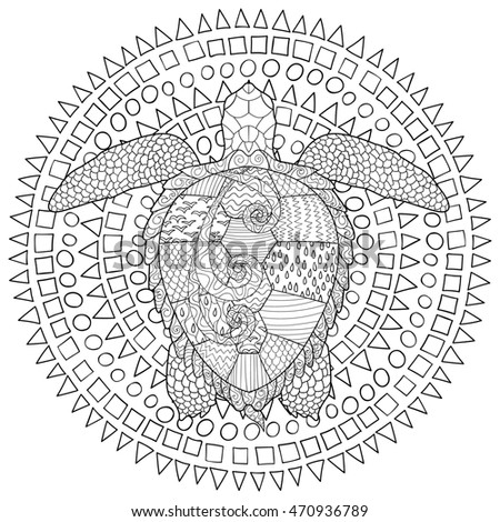 Mandala Vintage Decorative Elements Oriental Pattern Stock