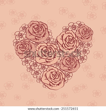 Greeting Card By Valentines Day Heart Vector 124187608 – Valentines Card Greetings
