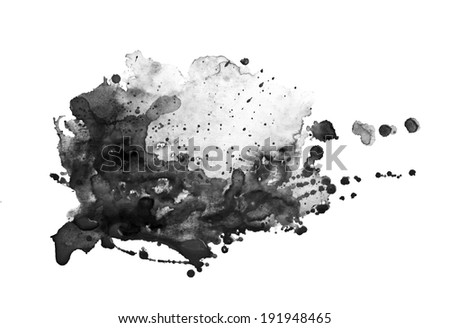 Hand drawn watercolor background - stock photo