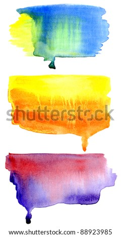 hand drawn watercolor background, for backgrounds or textures - stock photo
