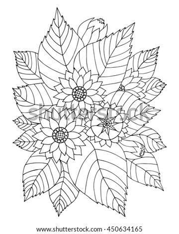 Number Names Worksheets pictures of flowers to trace : Dogrose Flower Pencil Drawing On White Stock Vector 146093438 ...