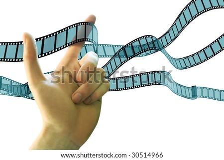hand film - stock photo