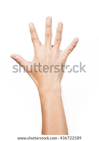 hand 5 fingers