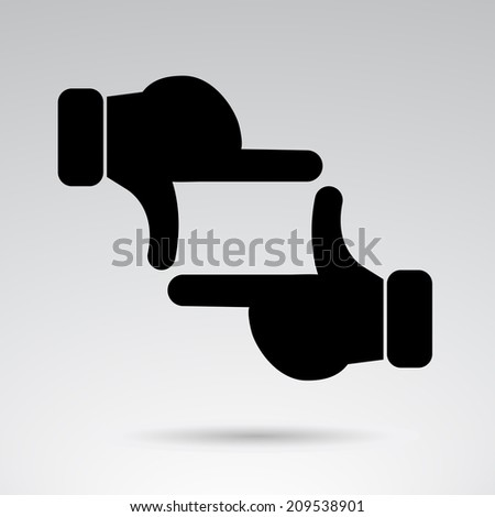 Hand frame creative icon.  - stock photo
