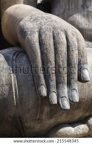 Hand from Buddha in Sukhothai Historical Park