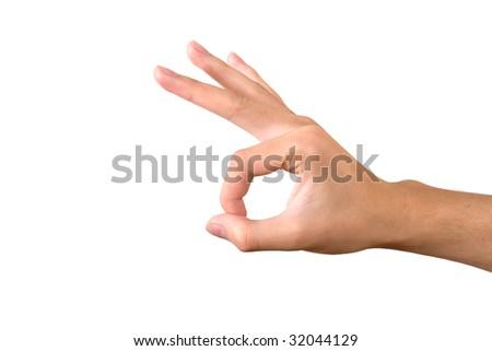 hand gesture - stock photo