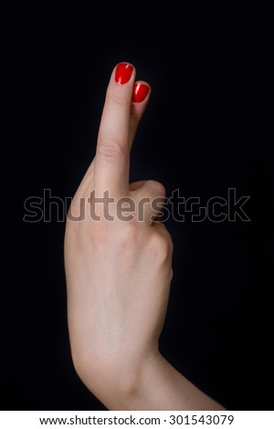 Hand gesture cool - stock photo