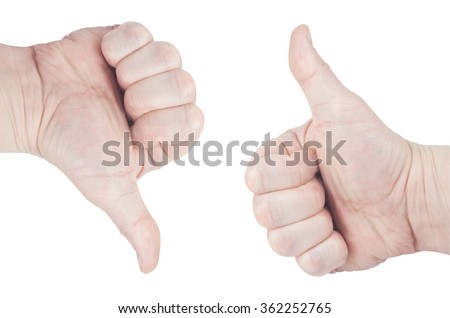 Hand gesture perfectly. Isolated on white background.  cliping path - stock photo