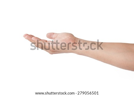 hand gestures isolated on a white background