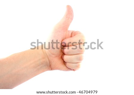 Hand gestures isolated on white background