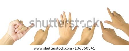 Hand gestures set - stock photo