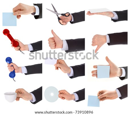 Hand gestures set. - stock photo