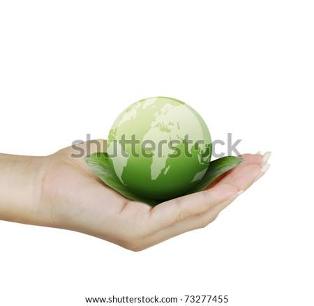 hand globe - stock photo