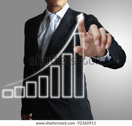 hand graph - stock photo