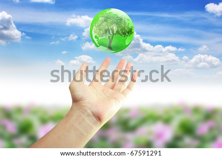 hand green world