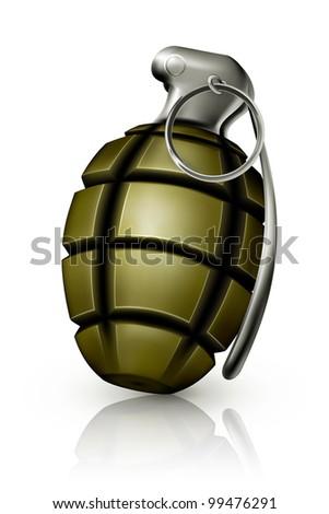Hand grenade, bitmap copy - stock photo