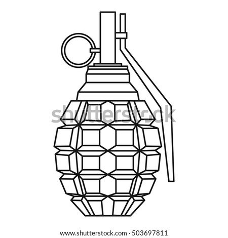 Stock Photo Hand Grenade Bomb Explosion Icon In Outline Style Isolated On White Background Illustration 503697811 Free Restaurant Floor Plan