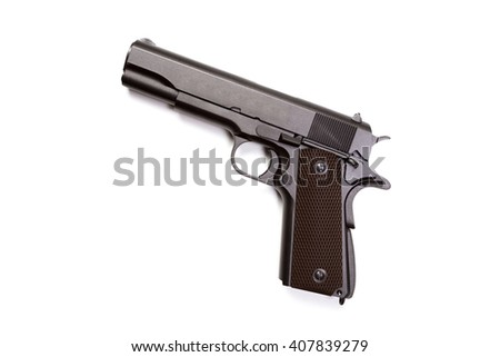 hand gun isolated on white background