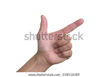Hand Gun Sign - stock photo