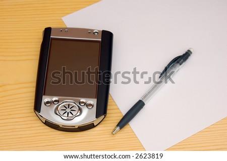 hand-held device (pda) - stock photo