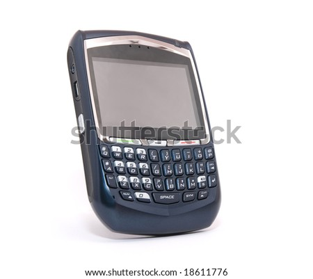 Hand held organizer phone - stock photo