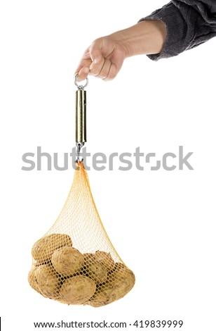 Hand Held Spring Balance - stock photo