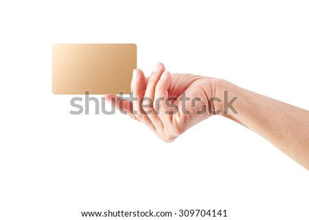 Hand hold gold card
