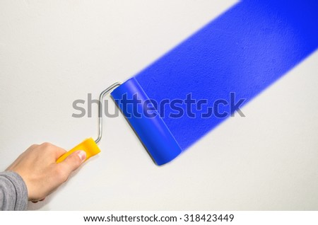 hand hold roll tool for painting or burnishing , finishing work - stock photo