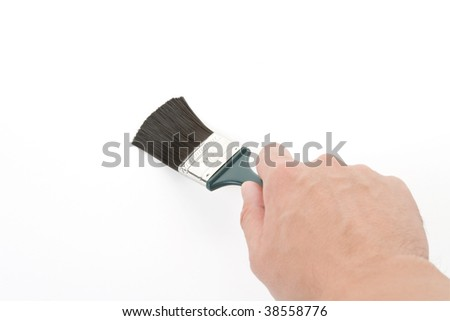 Hand holding a brush, Brushing