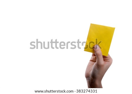 hand holding a red envelope on a white background