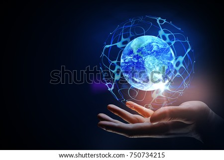 Planet Earth In Hands Stock Images, Royalty-Free Images ...