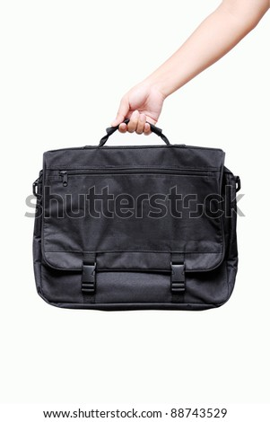 hand holding bag - stock photo