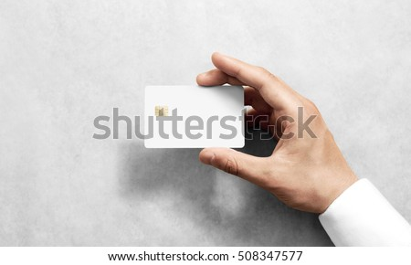 hand holding blank white credit card stock photo 508347577 shutterstock. Black Bedroom Furniture Sets. Home Design Ideas