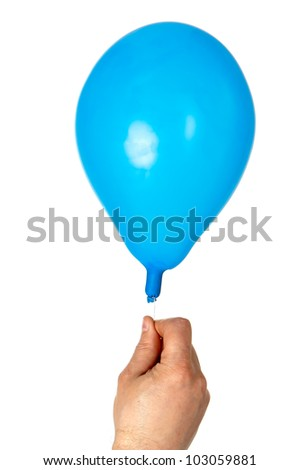 Deflated Red Balloon Isolated On White Stock Photo 102137197 ...