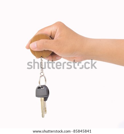 hand holding bunch of keys