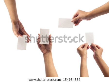 hand holding Card   - stock photo